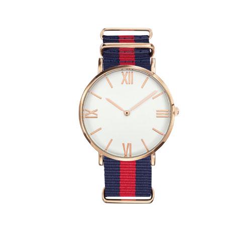 Montre publicitaire made in france Dandy bracelet bleu et rouge