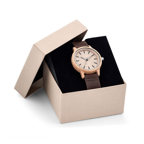 Montre publicitaire made in france Woody