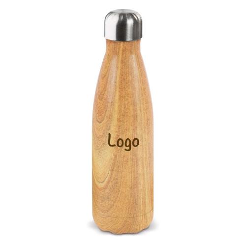 Bouteille isotherme personnalisable couleur bois