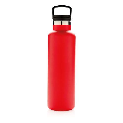 gourde publicitaire isotherme rouge à goulot avec filtre