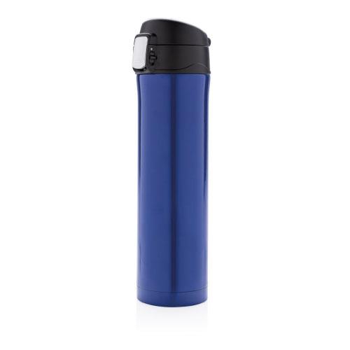 Gourde isotherme personnalisable bleue avec verrouillage