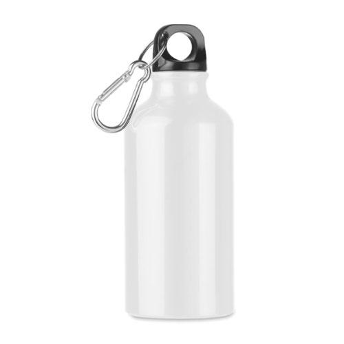 Petite gourde publicitaire en aluminium blanche