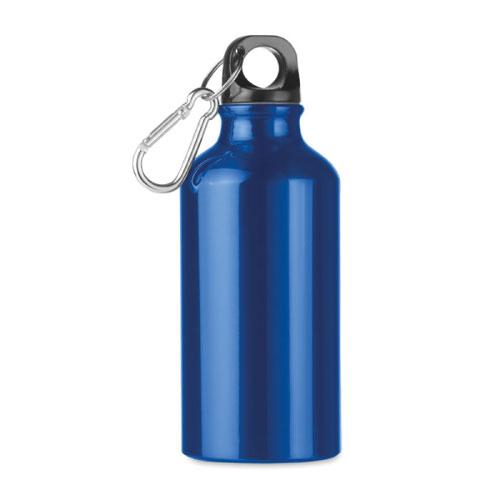 Petite gourde publicitaire en aluminium bleue