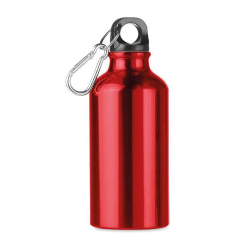 Petite gourde publicitaire en aluminium rouge