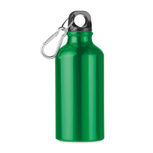 Petite gourde publicitaire en aluminium verte