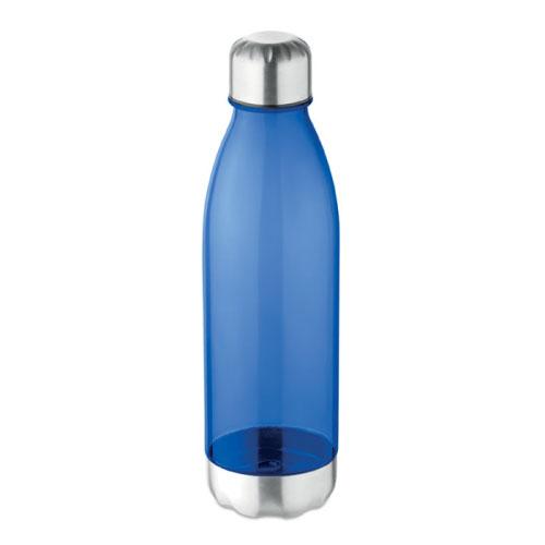 bouteille écologique personnalisable en tritan et acier inoxydable bleue