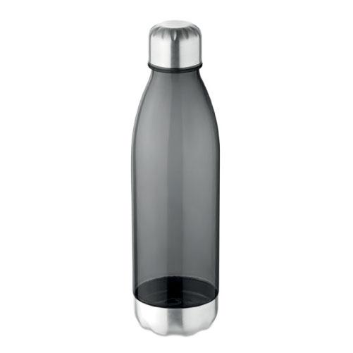 bouteille écologique personnalisable en tritan et acier inoxydable noire