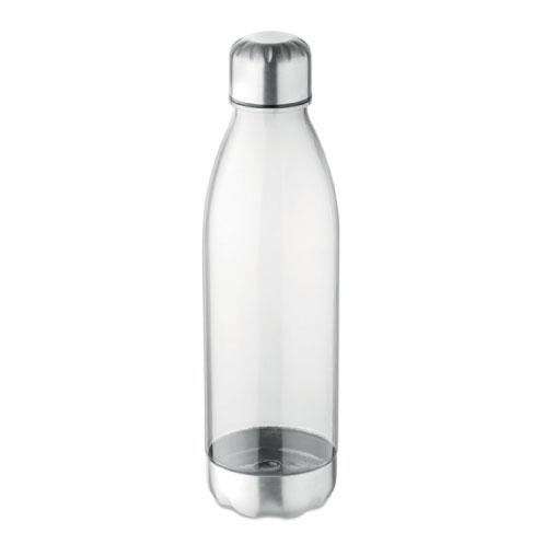 bouteille écologique personnalisable en tritan et acier inoxydable transparente