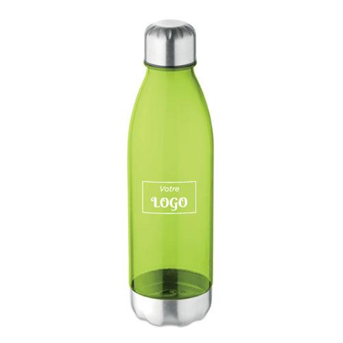 bouteille écologique personnalisable en tritan et acier inoxydable verte