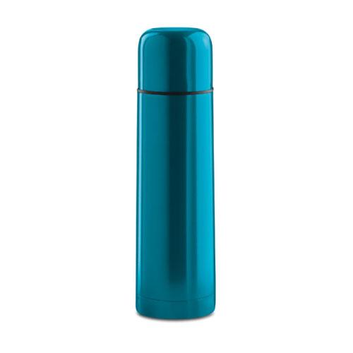 bouteille thermos publicitaire bleu clair