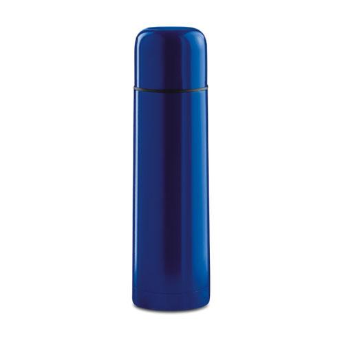 bouteille thermos publicitaire bleue