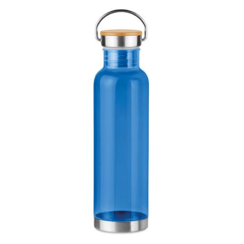 gourde écologique personnalisable en tritan bleue avec poignée