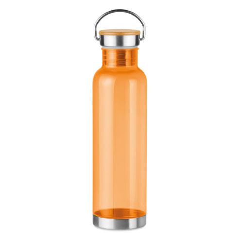 gourde écologique personnalisable en tritan orange avec poignée