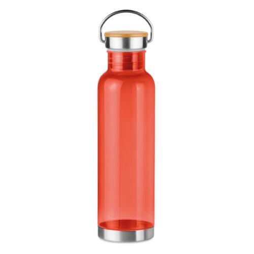 gourde écologique personnalisable en tritan rouge avec poignée
