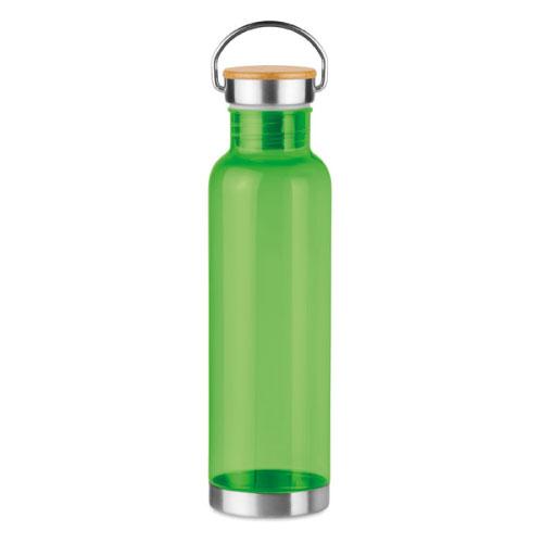 gourde écologique personnalisable en tritan verte avec poignée