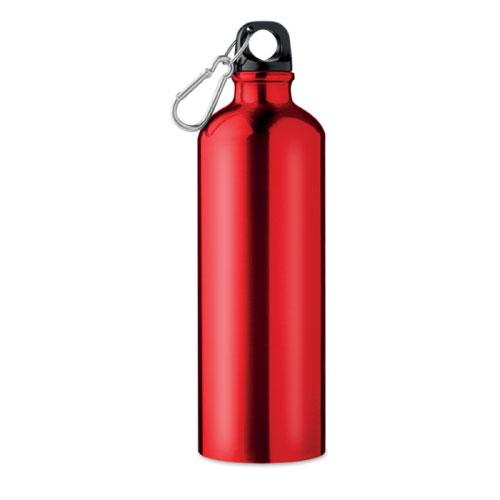 gourde publicitaire en aluminium rouge