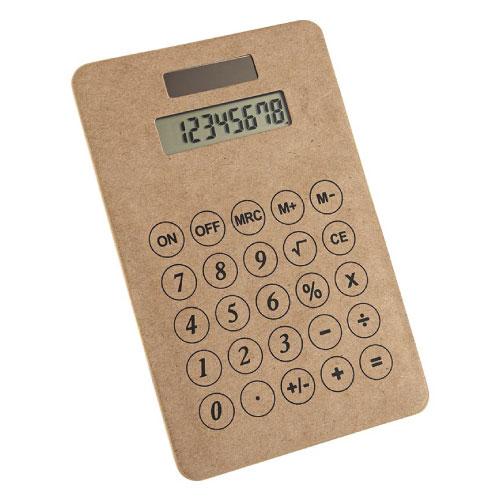 calculatrice personnalisable en carton recyclé