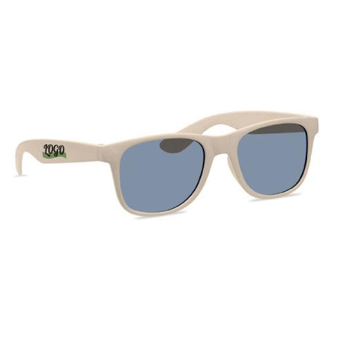 lunettes de soleil publicitaires écologiques en fibre de bambou et pp
