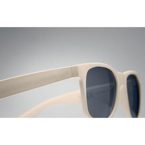lunettes de soleil publicitaires personnalisables écologiques en fibre de bambou et pp