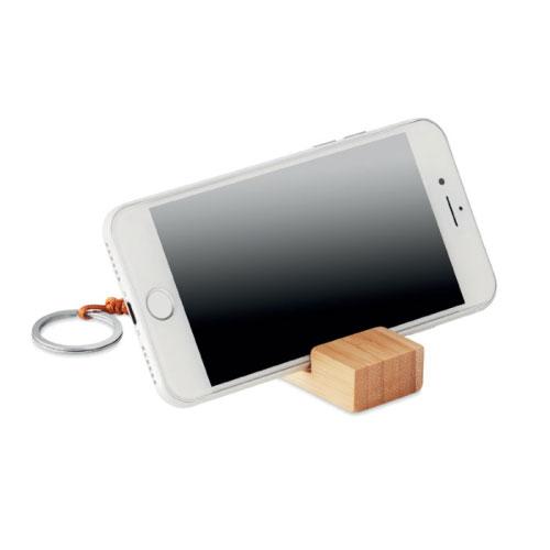 porte-clé support de téléphone personnalisable en bambou