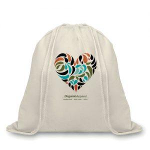 sac publicitaire à cordelette en coton organique