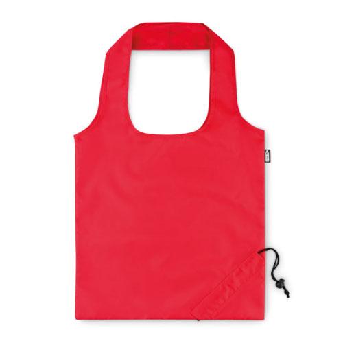 sac publicitaire pliable en RPET rouge