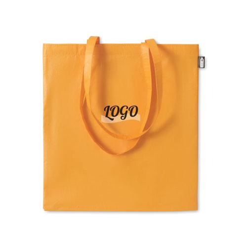 sac shopping publicitaire en RPET orange