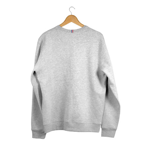 sweat gris personnalisable made in france en coton