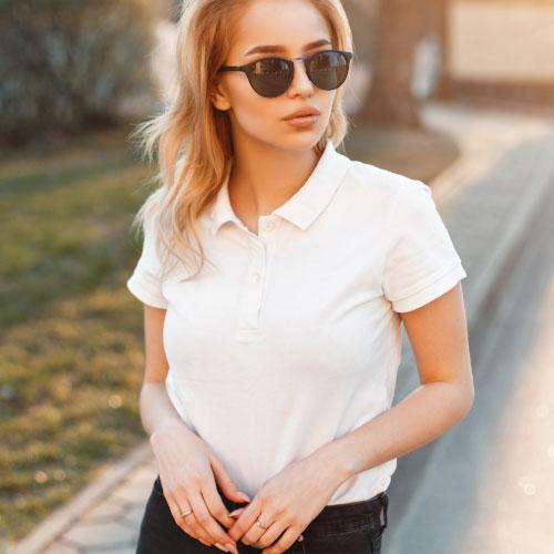t-shirt personnalisable made in france en coton bio sur femme